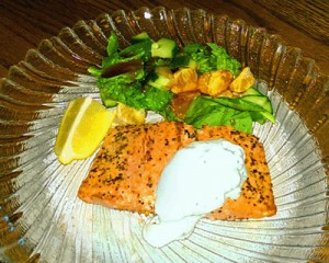 Grilled Salmon with Lemon-Herb Sauce