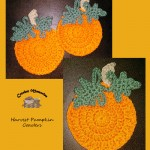 www.crochetmemories.com/blog Free pattern for pumpkin coasters