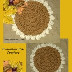 www.crochetmemories.com/blog Free pattern for pumpkin pie coasters!