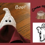 www.crochetmemories.com/blog Free pattern for a ghost napkin ring