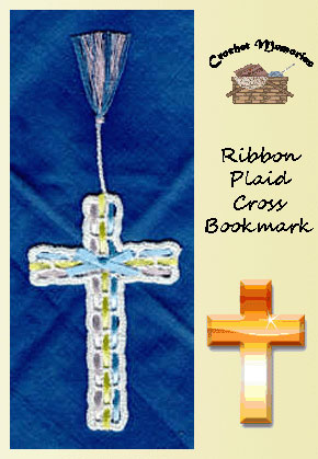 Ribbon Plaid Cross Bookmark