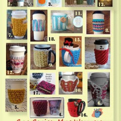 Coffee cozies, mug warmers & on-the-go wraps, a crochet round up that will keep your hot drinks hot in style that's unbeatable!