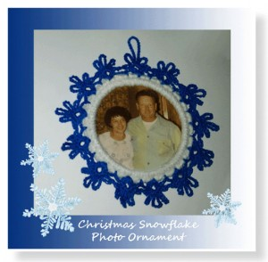 A picture of mom & dad when they appear so happy - this pattern is available for free.