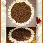 Free pattern for working a pecan pie coaster