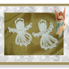 Free pattern for little thread angels
