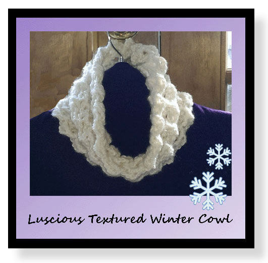 Free pattern for soft, winter like MAM-style winter cowl