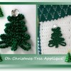 Free crochet pattern for an versatile Christmas tree applique pattern
