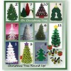 Crochet patterns for small Christmas trees