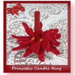 Free crochet pattern for a poinsettia candle ring