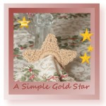 Free crochet pattern for a versatile Christmas star
