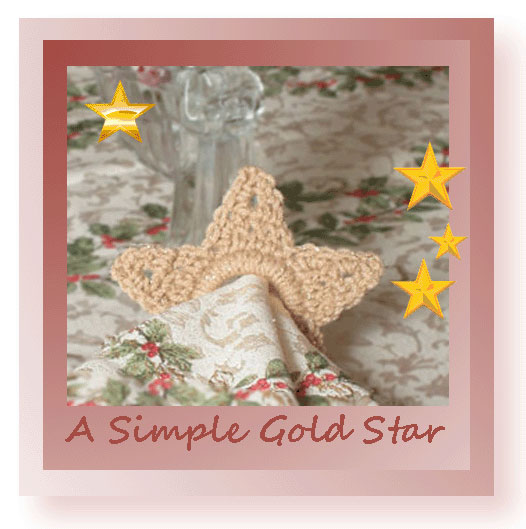 A Simple Gold Star Free Crochet Christmas Star Pattern From