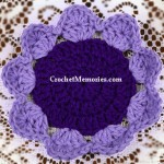 www.crochetmemories.com/blog Free pattern for a flower shaped coaster