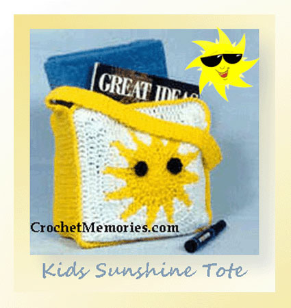 www.crochetmemories.com/blog Free pattern for a child's summer tote