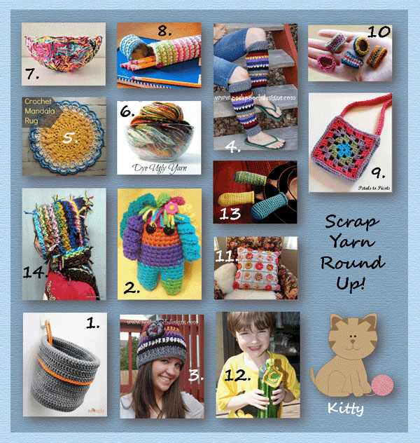 www.crochetmemories.com/blog A round up using scrap yarns to crochet beautiful projects!
