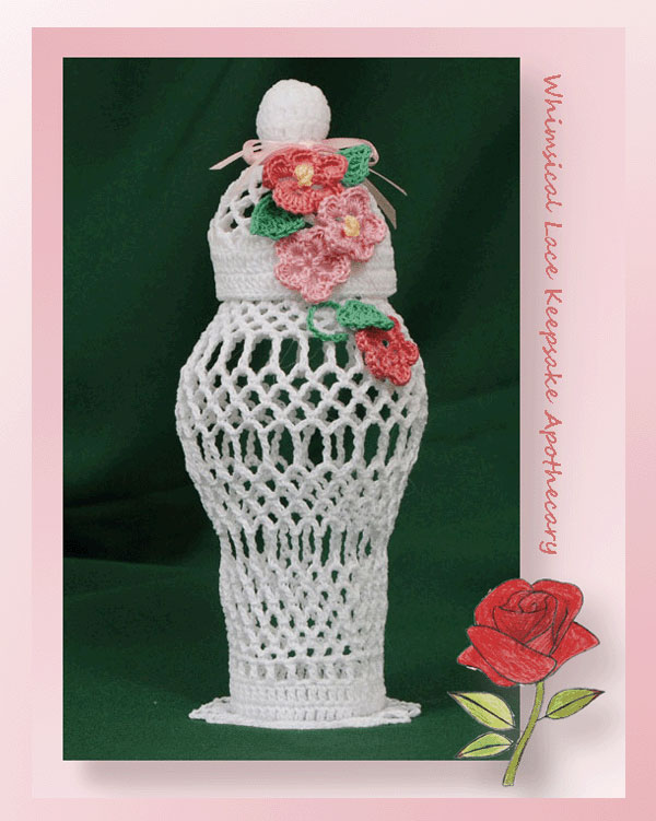 www.crochetmemories.com/blog - free pattern for a thread lace apothecary
