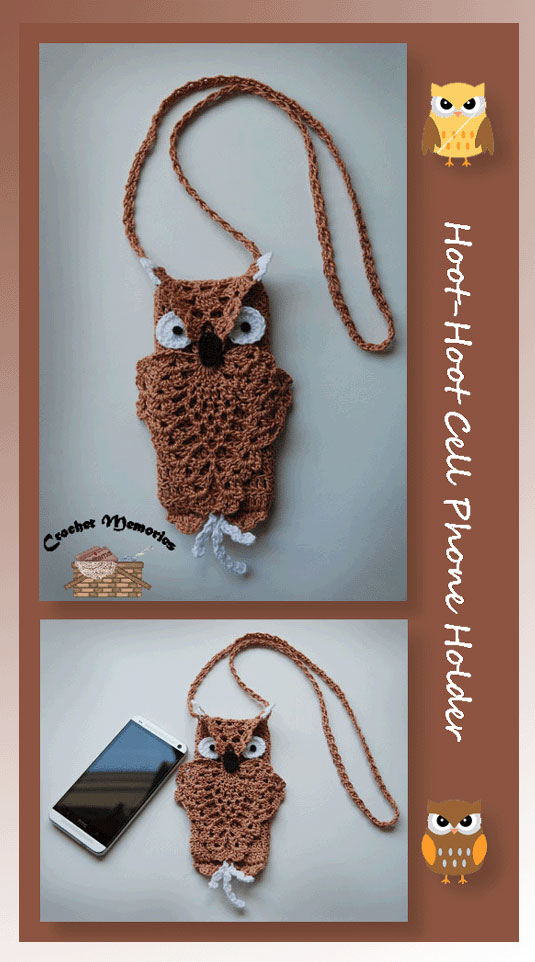 www.crochetmemories.com/blog free pattern for an owl cell phone holder