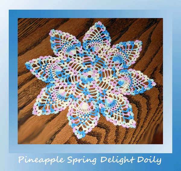 Pineapple Spring Delight Doily