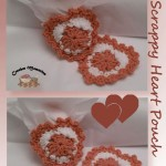 www.crochetmemories.com/blog Free pattern for a scrap yarn heart pouch