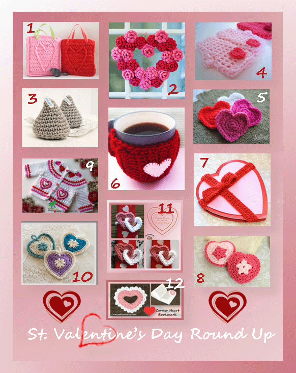 www.crochetmemories.com/blog Crochet patterns for Valentines Day!