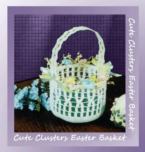 www.crochetmemories.com/blog - Free pattern for a thread Easter basket