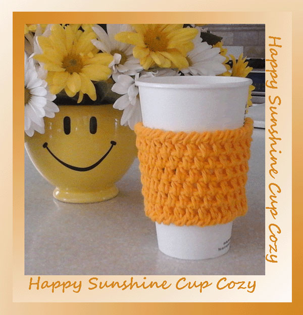 www.crochetmemories.com/blog - Free pattern for a yarn cup cozy