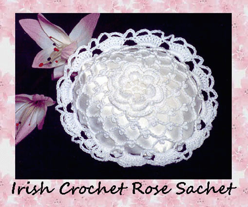 www.crochetmemories.com/blog - Free pattern for a thread lace sachet