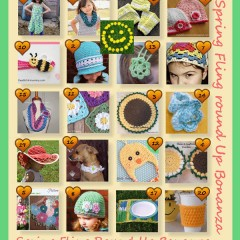 Spring Fling Round Up Bonanza with 20 wonderful spring crochet patterns to choose from