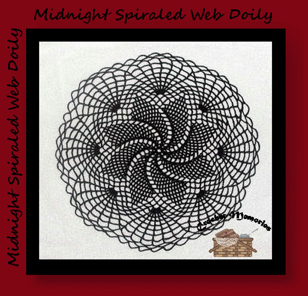 Midnight Spiraled Web Doily Crochet Memories Blog