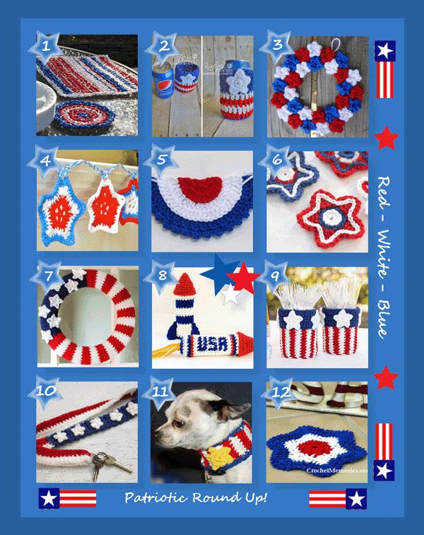 www.crochetmemories.com/blog - Patriotic Round Up