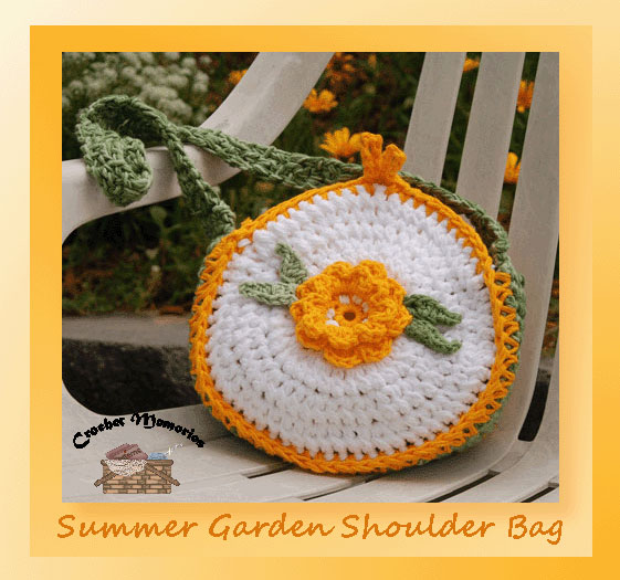 www.crochetmemories.com/blog - Free pattern for a summer garden purse