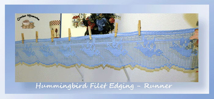 Hummingbird Filet Edging-Runner