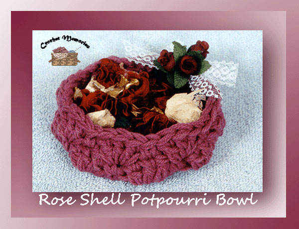 Rose Shell Potpourri Bowl