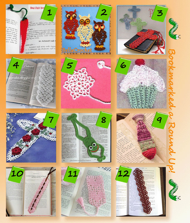 Bookmarked, a Round Up of crochet bookmark patterns!