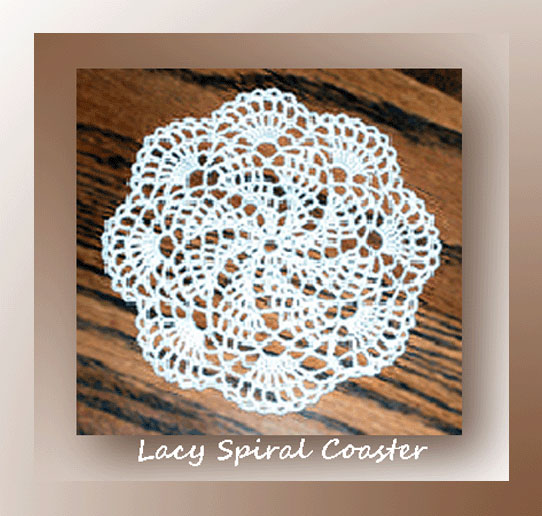 Lacy Spiral Coaster
