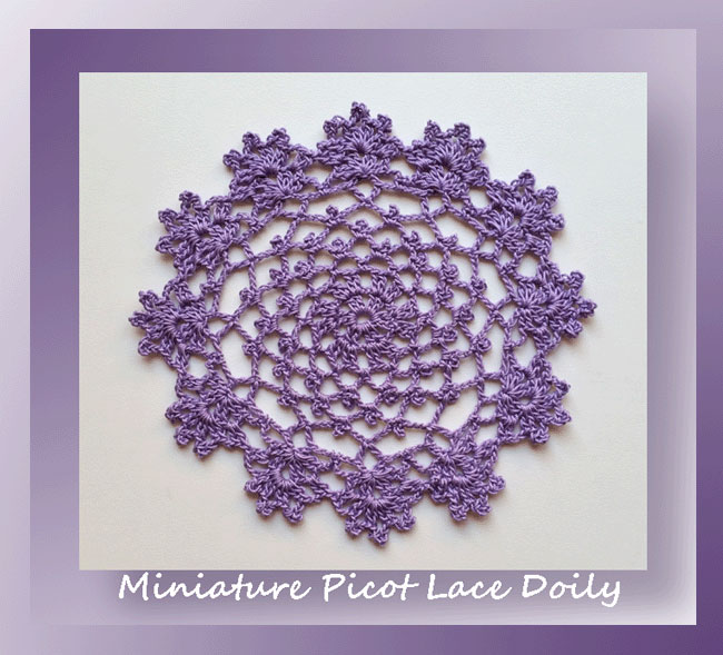Miniature Picot Lace Doily Crochet Memories Blog