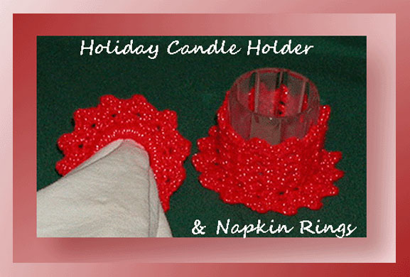 Holiday Candle Holder Amp Napkin Rings Free Crochet
