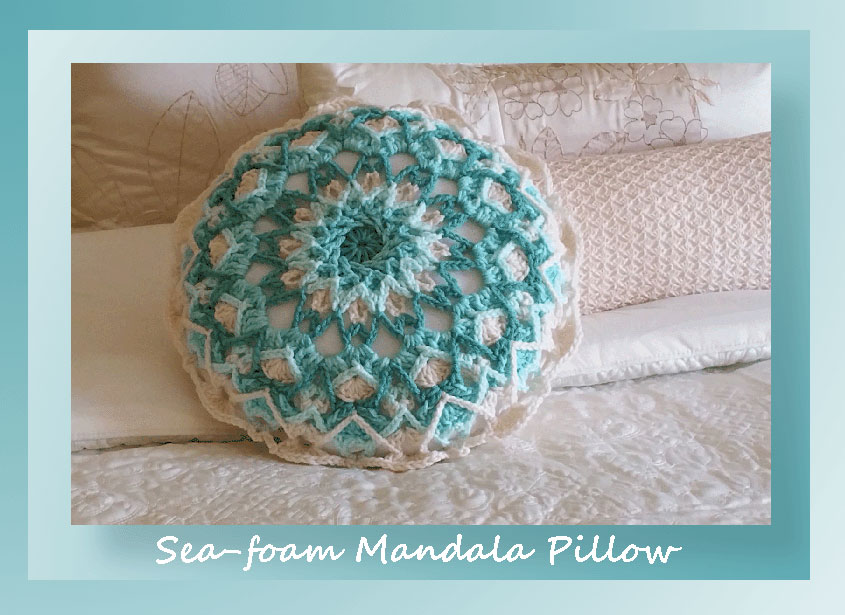 Sea-Foam Mandala Pillow