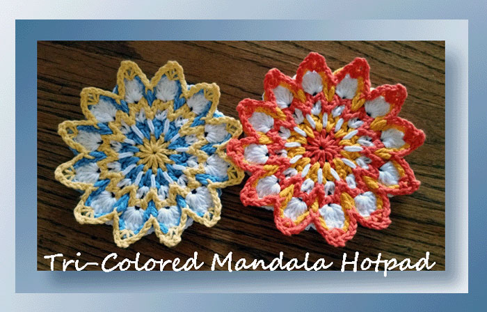 Tri-Colored Mandala Hotpad