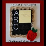 The Old School House Chalkboard Memo Holder