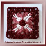 Intricate Lacy Crimson Square