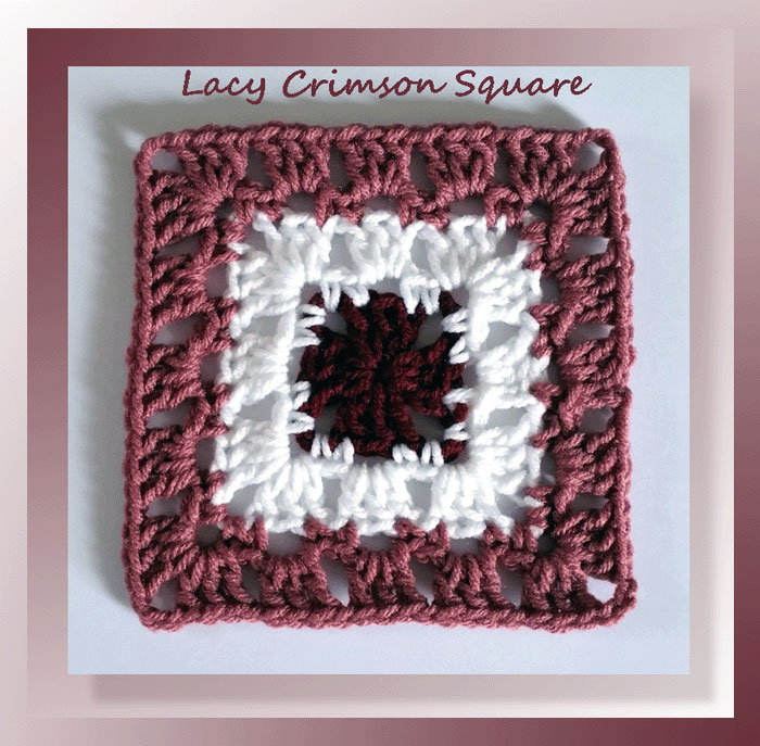 Lacy Crimson Square