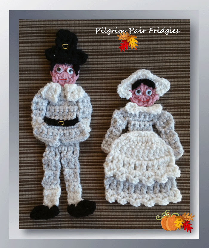 Pilgrim Pair Fridgies (Pilgrim Girl Fridgie)