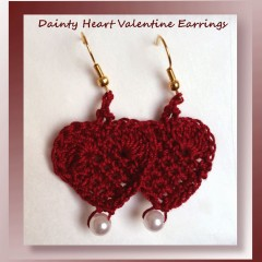 Dainty Heart Valentine Earrings