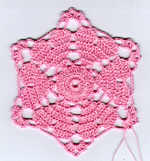 Crochet-a-Long Hearts Doily (section 1)