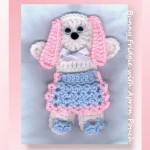 Bunny Fridgie with Apron Pouch