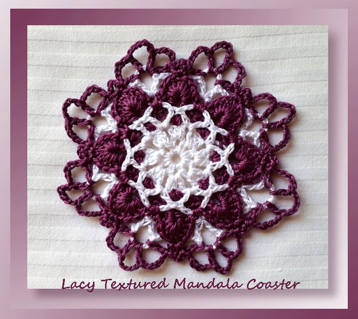 Lacy Textured Mandala Coaster