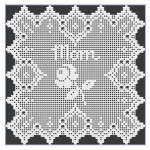 Mother's Day Rose Filet Doily