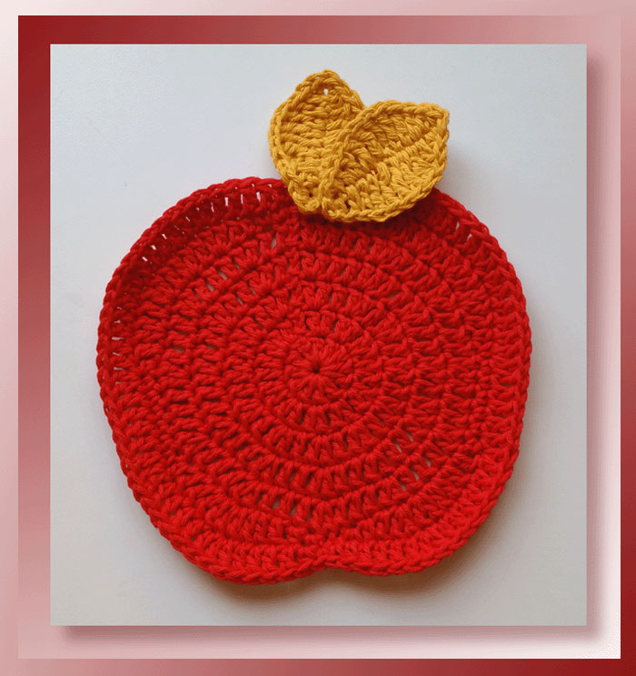 Pattern Review Apple Dishcloth