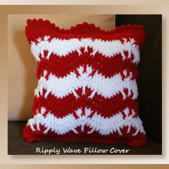 Ripply Wave Pillow Cover – Holiday Stashdown CAL 2016