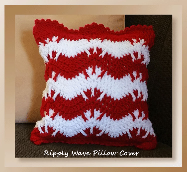 Ripply Wave Pillow Cover - Holiday Stashdown CAL 2016